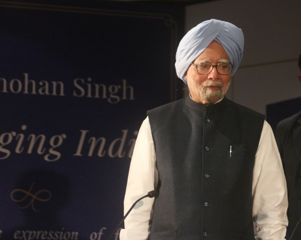 "New Delhi: Former Prime Minister Dr. Manmohan Singh at the launch of his book ""Changing India"" in New Delhi on Dec 18, 2018. (Photo: IANS)"