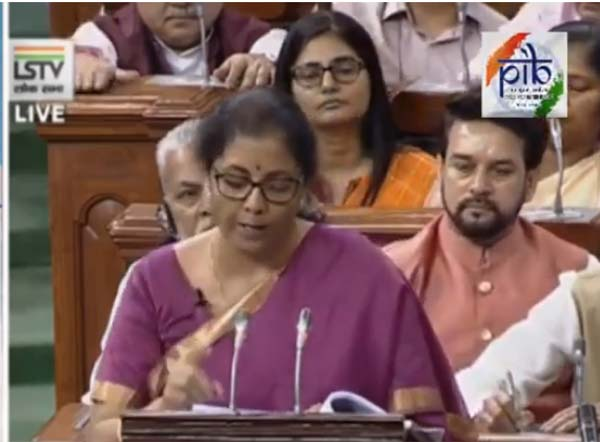 Budget Speech by Union Finance Minister Nirmala Sitharaman